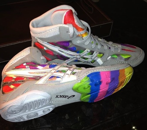 Asics Rainbow Wrestling Shoes